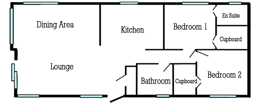 Illustration of Floor Plan for a Brand New Willerby Clearwater on Oakmere Lodge Park